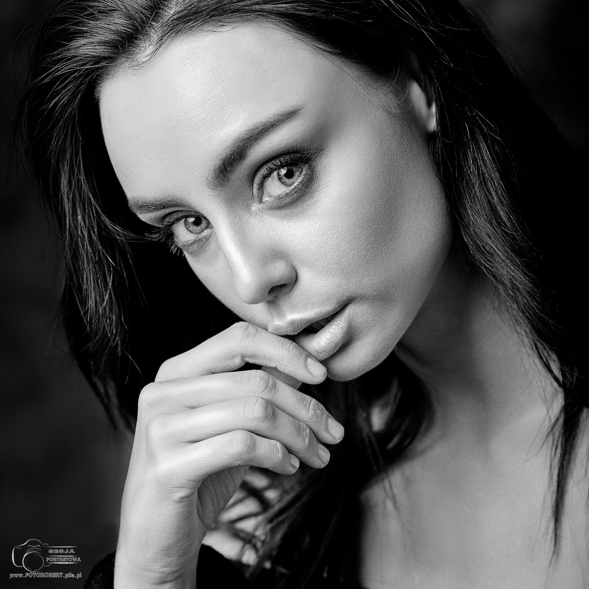 Portrety studyjne retusz